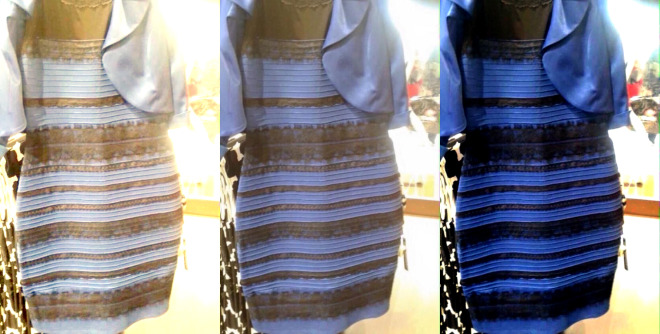 Blue, Black, Yellow or White. All About That Dress